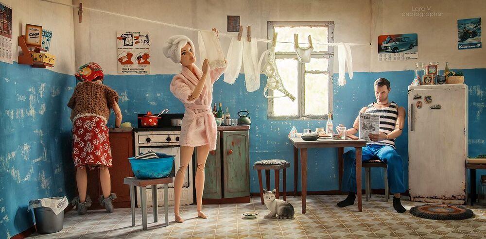 Em apartamentos comunais, residentes compartilhavam cozinha e banheiro