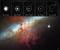 Luz refletida pela explosão da supernova SN 2014J na galáxia vizinha de M82