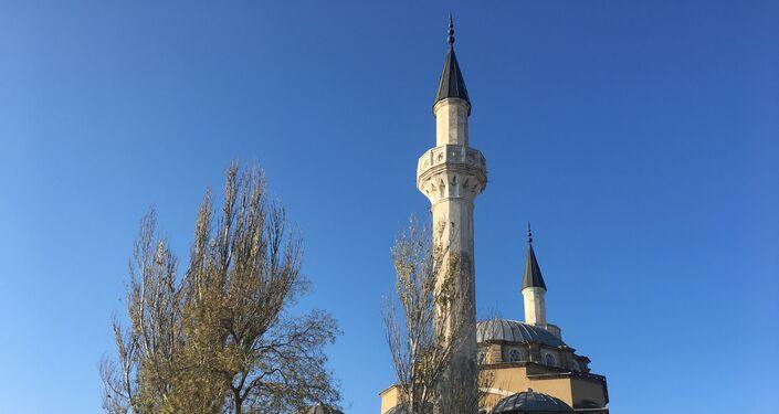 Uma mesquita no centro da cidade de Eupatória, na Crimeia